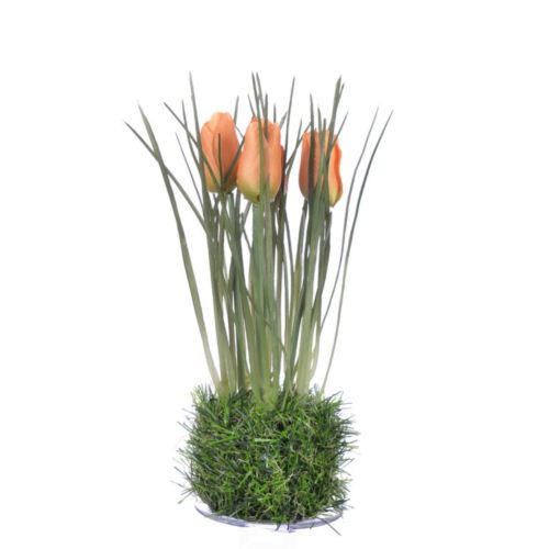 Tulipan in grass  23 cm 35640-33 orange