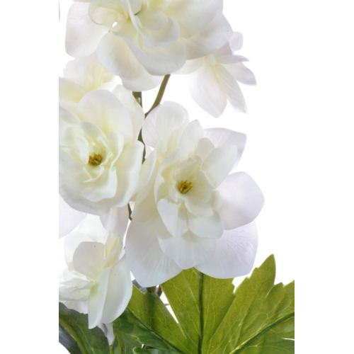 Delphinium 79 cm cream real touch