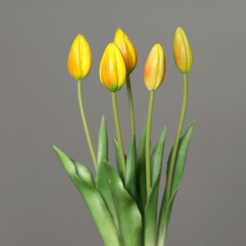 Tulip bundle x 5 45 cm  yellow orange 3701-60