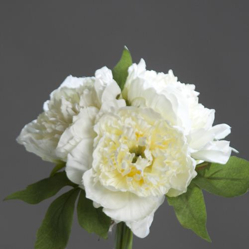 Peony bouquet x3 cream 26 cm 40088-05