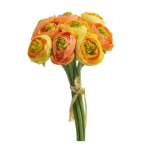 Jaskier pelnokwiatowy 9szt/pecz - sztucz. rosl. orange yellow