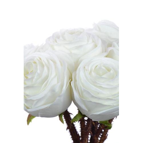 Weding rose busch 35cm sun546 pearl white