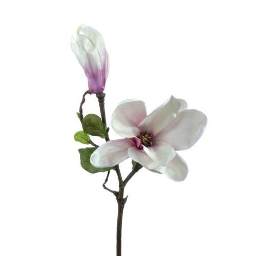 Magnolienzweig x2 61 cm weis-rose