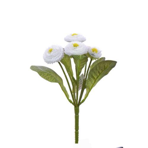 Stokrotka bukiecik x6 20cm  kdgc466 white