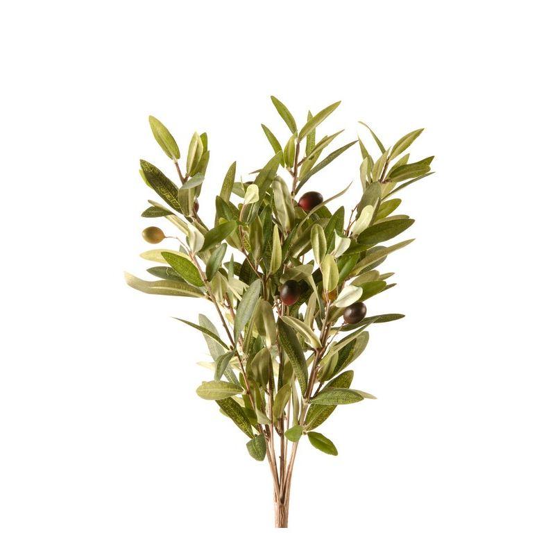Olive bush x9 35cm green