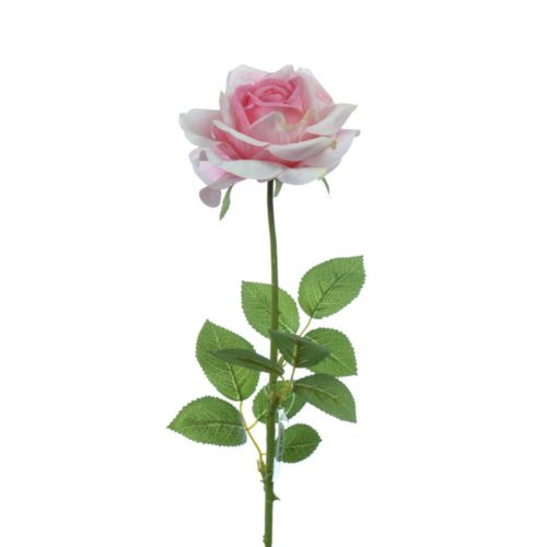 Rose x1 natural touch 68 cm pink
