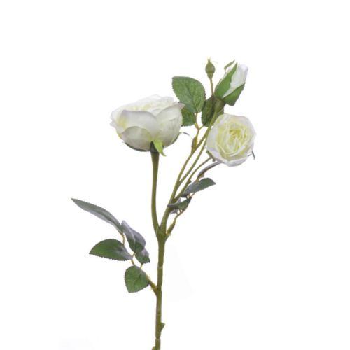 Rosenzweig x3 43cm weiß