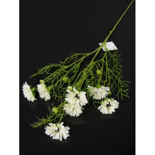 Cornflower spray 70cm 033036 white chaber