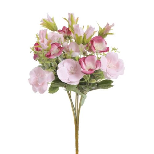 Bukiecik x7 drobne kwiatki 30cm pink dk pink