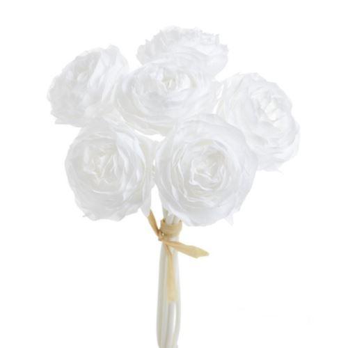 Bukiet ranunculus x6 23cm 81can15379 white