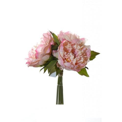 Peonie bouquet x3 26 cm  40088-03 pink