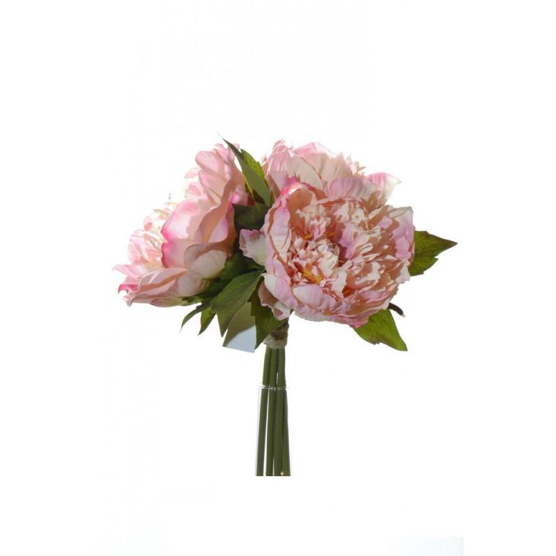 Peony bouquet x3 26 cm  40088-03 pink