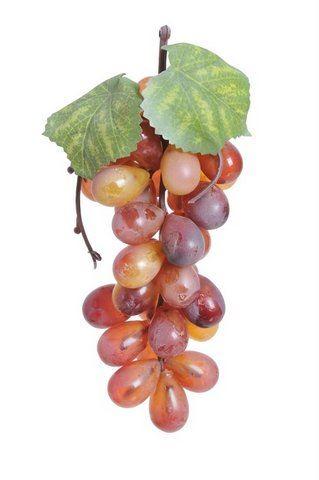Winogrono sztuczne 18cm 36 owoców różowe