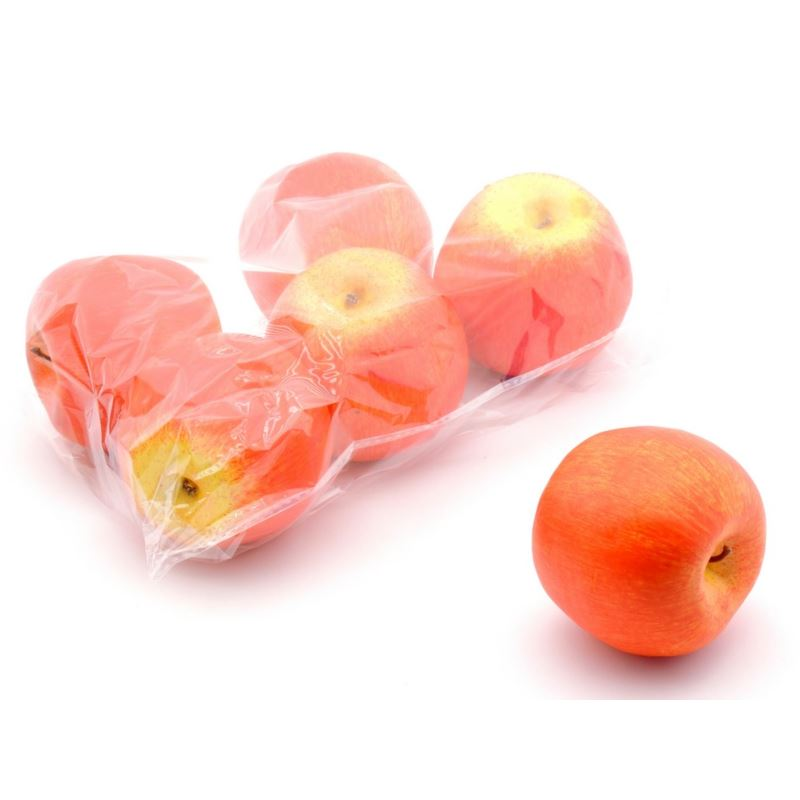 Jabłka sztuczne 8 cm 6szt/pacz. orange yellow