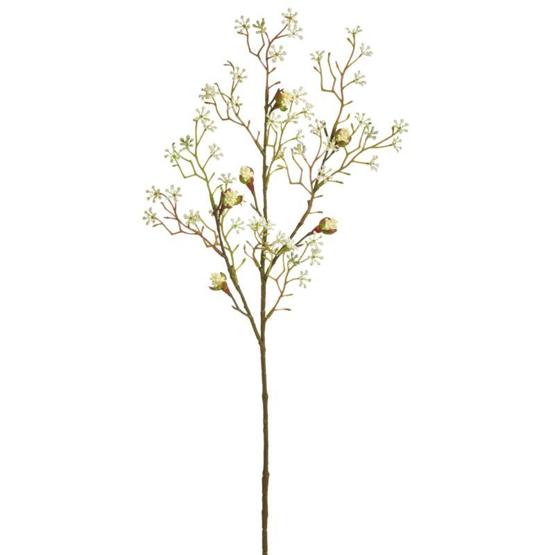 Ahornknospenzweig 3-fach  75cm weiß