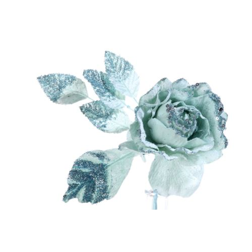 Róża brokat krótka mint