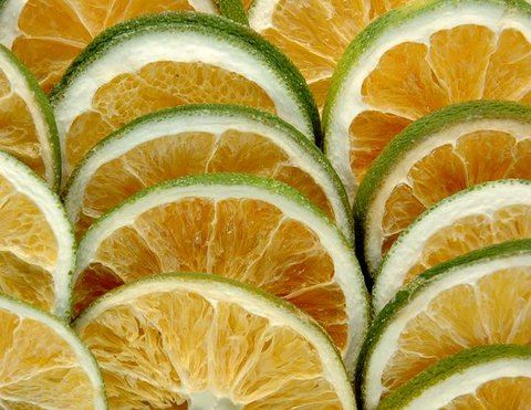 Orange sliced green II-susz