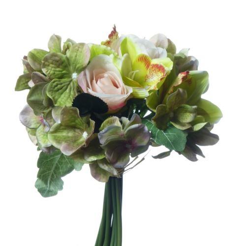 Bukiet z różą,storczykiem i hortensja