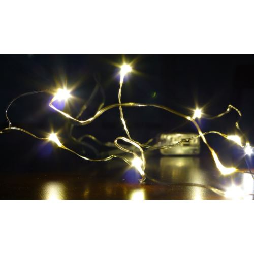 LAMPKI DRUCIK 10LED/1M/2xAA ŚW. CIEPŁE