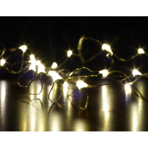 LAMPKI 2M/40LED/BAT.2XAA/ŚWIATŁO CIEPŁE BIAŁE