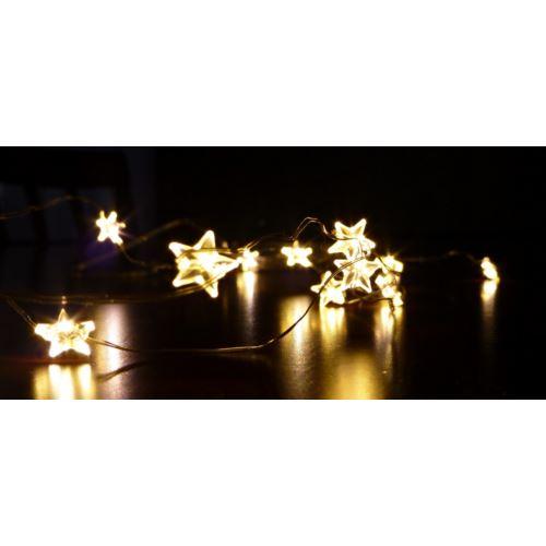 LAMPKI GWIAZDKI DRUCIK 20LED/2M/2xAA ŚW. CIEPŁE
