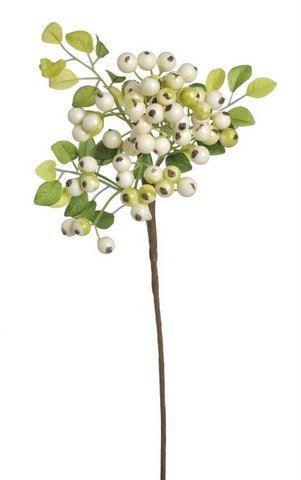 Gałązka glóg x 63 owoce 36cm cream green