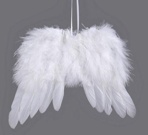 Skrzydla aniolka zawieszka 10cm 6szt/pacz WHITE