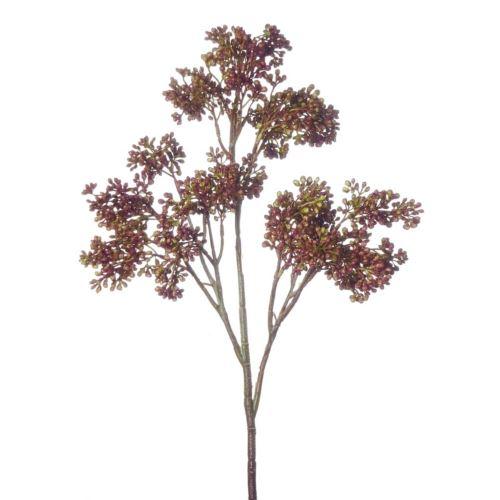 Gałązka z drobnymi kuleczkami 50cm brown burgundy