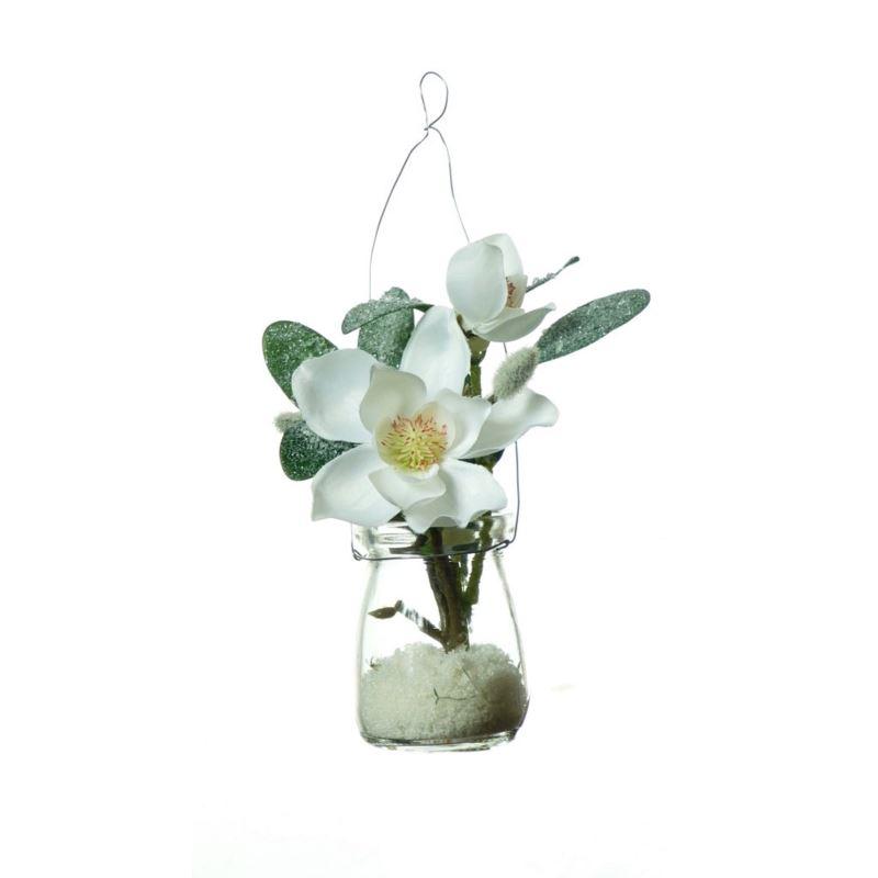 Ice-flower Magnolia in hanging glasss 21 cm