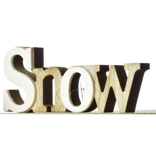 """NAPIS DEKORACJA DREWNO ,,SNOW"""""""
