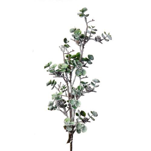 """GAŁĄZKA OZDOBNA """"eukaliptus szyszki śnieg"""" 95cm"""