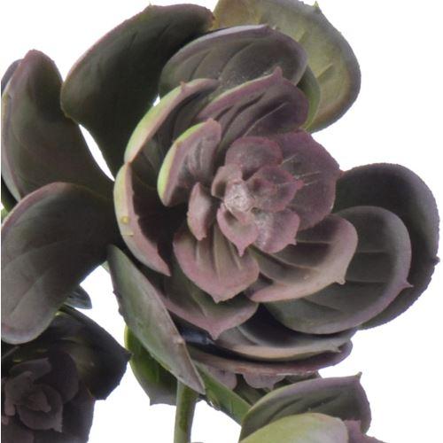 Sukulent x7 zwis zm014 32 cm    gray pink