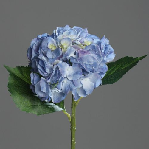 hydrangea with 3 leaves, 44 cm, blue , 24/144