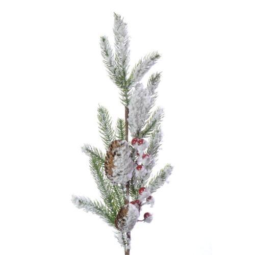 GAŁĄZKA Szyszki owoce śnieg 70cm
