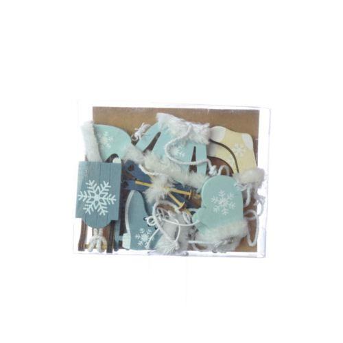 Zestaw SKI BOX light blue with blue mix 6 różnych
