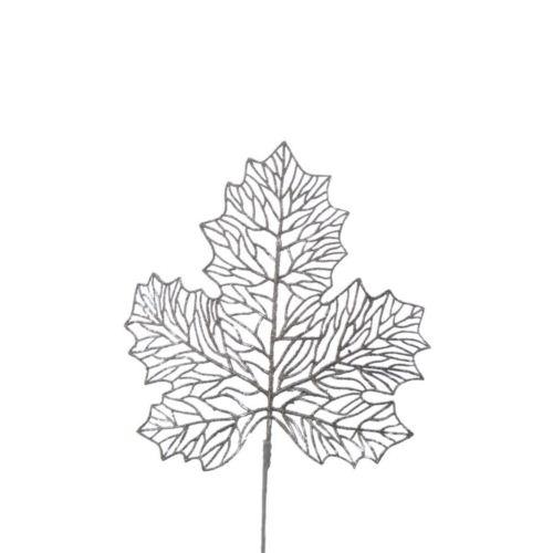 Gałązka sztuczna liść brokat champagne 98CAN05 G-200