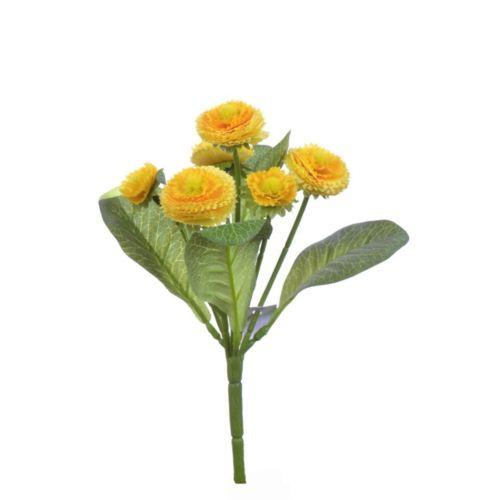 Stokrotka bukiecik x6 20cm  kdgc466 yellow