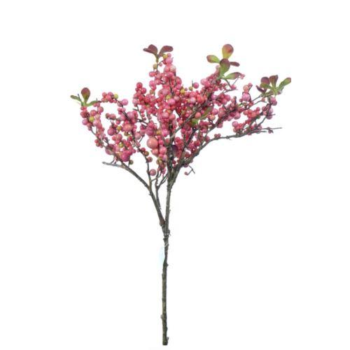 Beerenzweig 7-faeh 55 cm rose kulki różowe