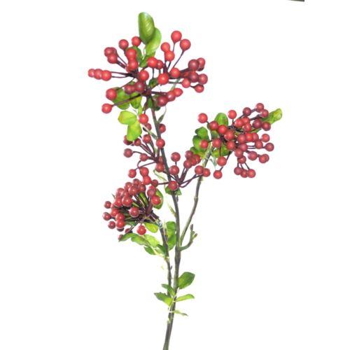 Gałązka jarzebiny x3 70 cm red