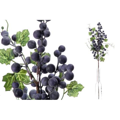 Gał.z kulkami 60cm blue violet