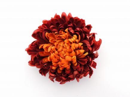 Mum head small 14cm jx59 burgundy orange