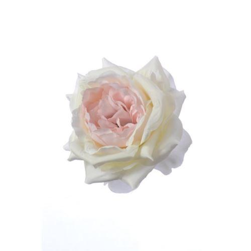 Róża główka 12cm  ART132 lt pink/lt green