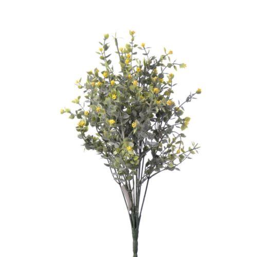 Dodatek drobne  listki x12 42cm yellow