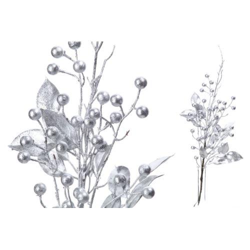Gałązka liść srebrny z kulkami