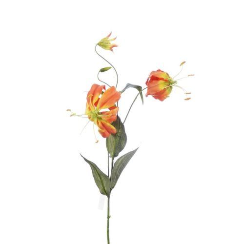 Gloriosa spray 78 cm orange