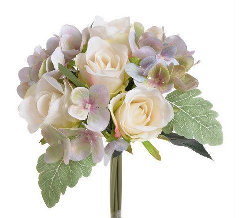 Bukiet roza z hortensja 28cm