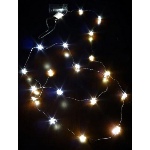 GWIAZDKI LAMPKI DRUCIK 20LED ŚW. CIEPŁE