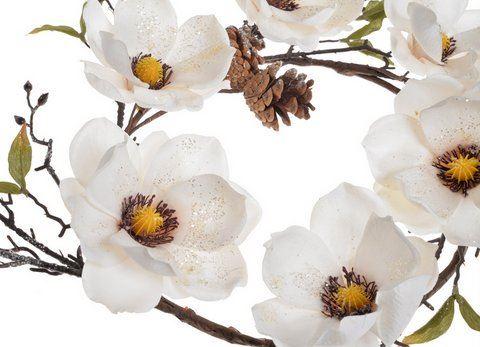 Wianek z brokacona magnolia
