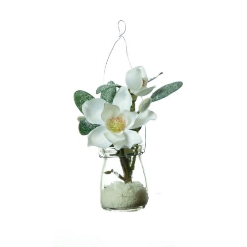 Ice-flower Magnolia in hanging glasss  21 cm