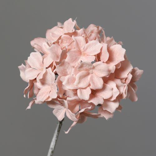 Hydrangea with Ice 12cm 49 cm pink